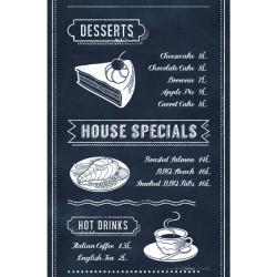 Lé unique Menu noir et blanc - Bon Appétit - Caselio