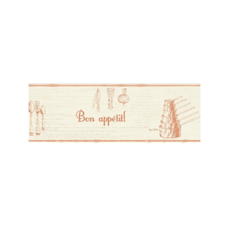 Frise Recettes beige et orange - BON APPETIT - Caselio - BAP68473017