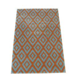 Nos tapis de d coration motifs divers et vari s que de choix 3 clic - Tapis gris et orange ...