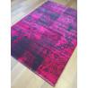 Tapis patchwork rose fuchsia 160x230cm - VINTAGE