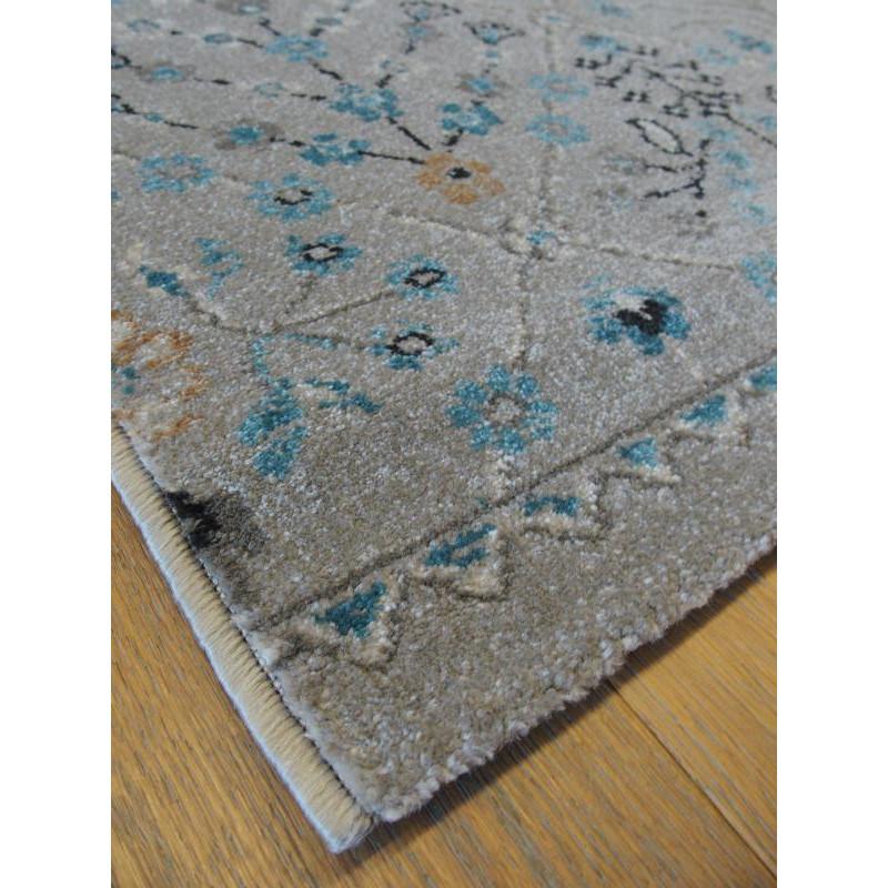 Tapis gris floral ANTIQUE 160x230cm