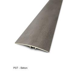 0,93mx41mm - Barre de seuil Finition minérale Béton - fixation invisible multi-niveaux plaxés Harmony - DINAC