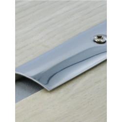 2,70mx50mm Barre de seuil Inox - à visser plate - DINAC