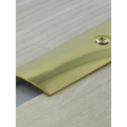 2,70mx30mm Barre de seuil laiton - à visser plate - DINAC