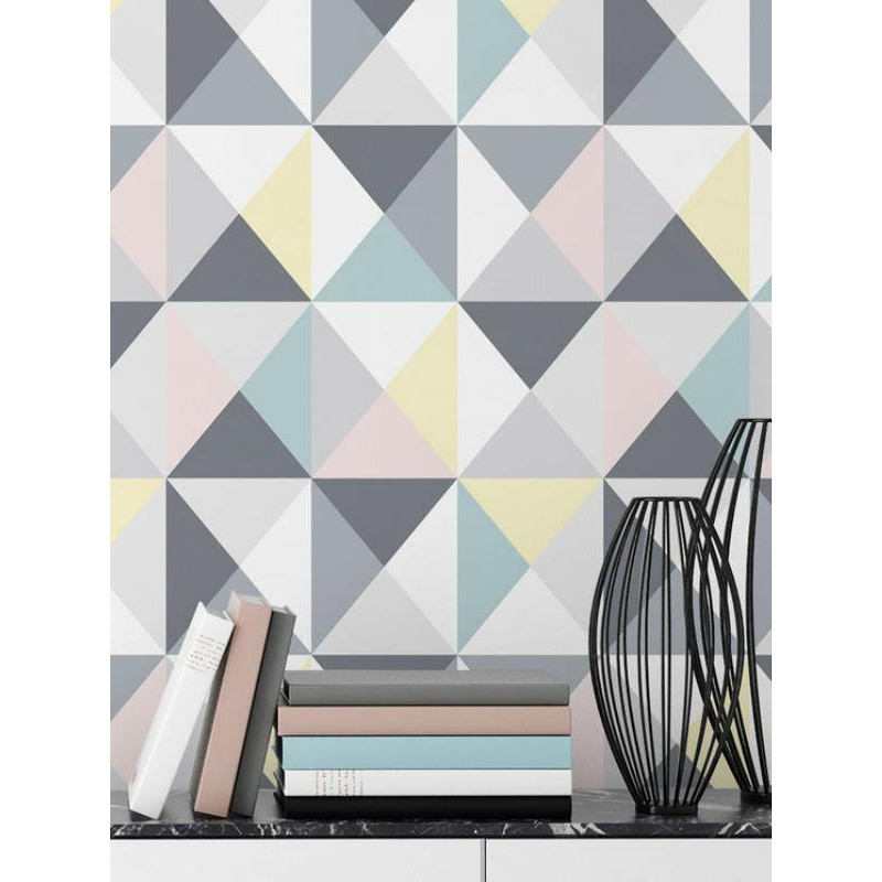 papier peint lisse polygone triangles pastel graham brown. Black Bedroom Furniture Sets. Home Design Ideas