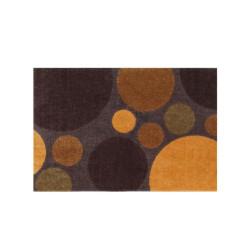 Paillasson Pois orange et marron - ME GUSTA - 40x60cm