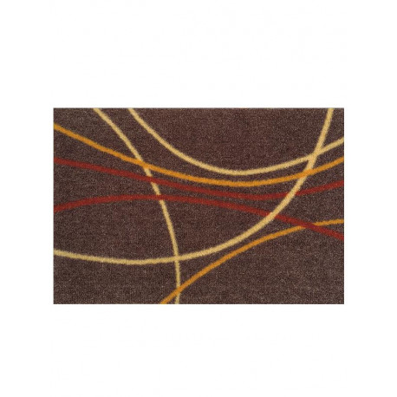 Paillasson Courbes orange et marron - ME GUSTA - 40x60cm