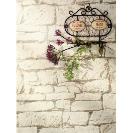 Papier peint Mur de brique naturel blanc - Bon Appétit - Caselio