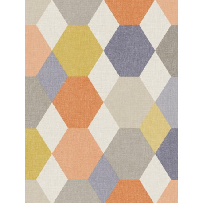 Papier peint Arlequin orange - SWING - Caselio - SNG68913965