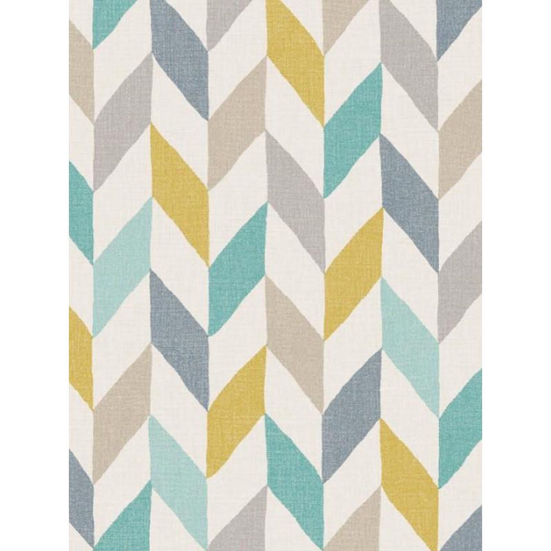 papier peint motif pis oslo bleu et jaune swing caselio. Black Bedroom Furniture Sets. Home Design Ideas