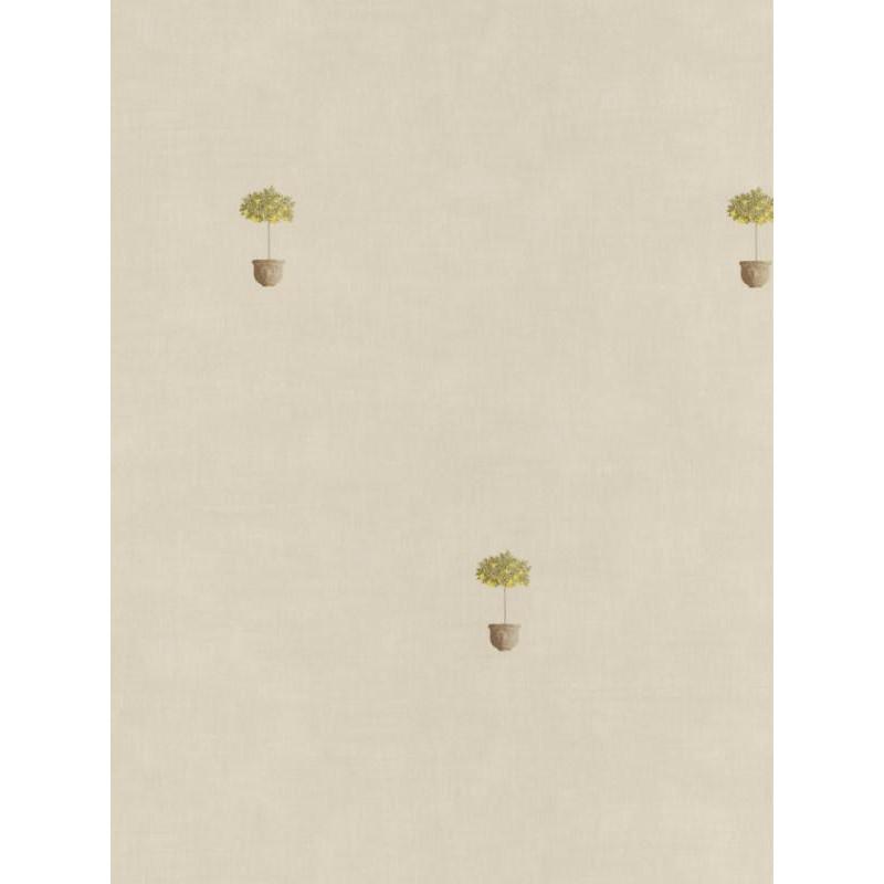 Papier peint Pots taupe / beige - Bon Appétit - Caselio