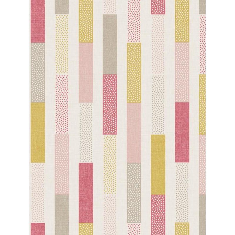 Papier peint Rayure Dot rose jaune- SWING - Caselio - SNG68894687