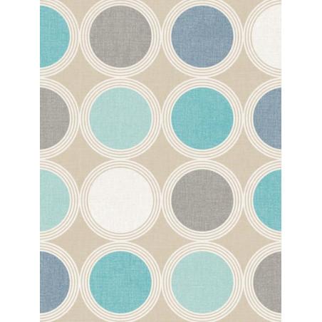 Papier peint à motif Rond bleu/gris - SWING - Caselio