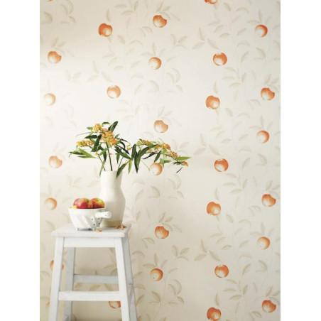 Papier peint Guirlande de Pommes orange - BON APPETIT - Caselio - BAP68403010