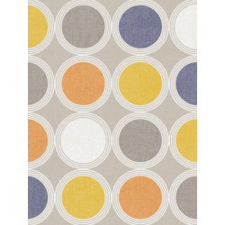 Papier peint à motif Rond orange/jaune - SWING - Caselio