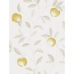 Papier peint Guirlande de Pommes jaune - Bon Appétit - Caselio