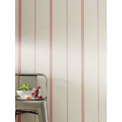 Papier peint Rayures Matelas rouge - BON APPETIT - Caselio - BAP68398080