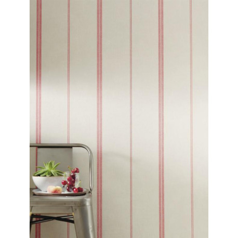 Papier peint Rayures Matelas rouge - Bon Appétit - Caselio