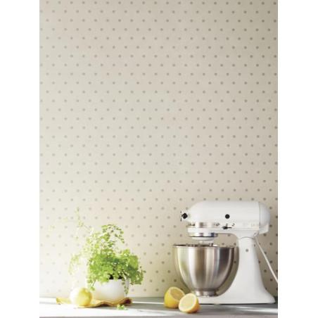 Papier peint Pois beige - BON APPETIT - Caselio - BAP68381003