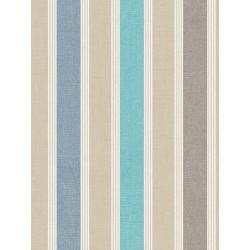 Papier peint à rayure matelas bleu- SWING - Caselio