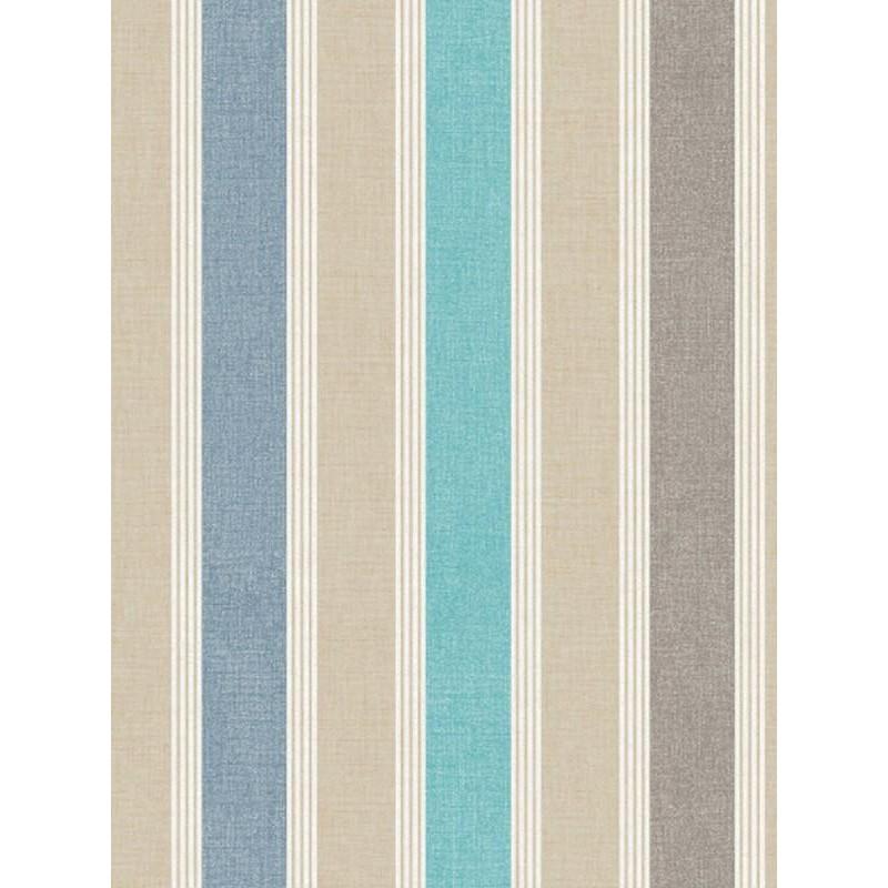 papier peint rayure matelas bleu swing caselio. Black Bedroom Furniture Sets. Home Design Ideas
