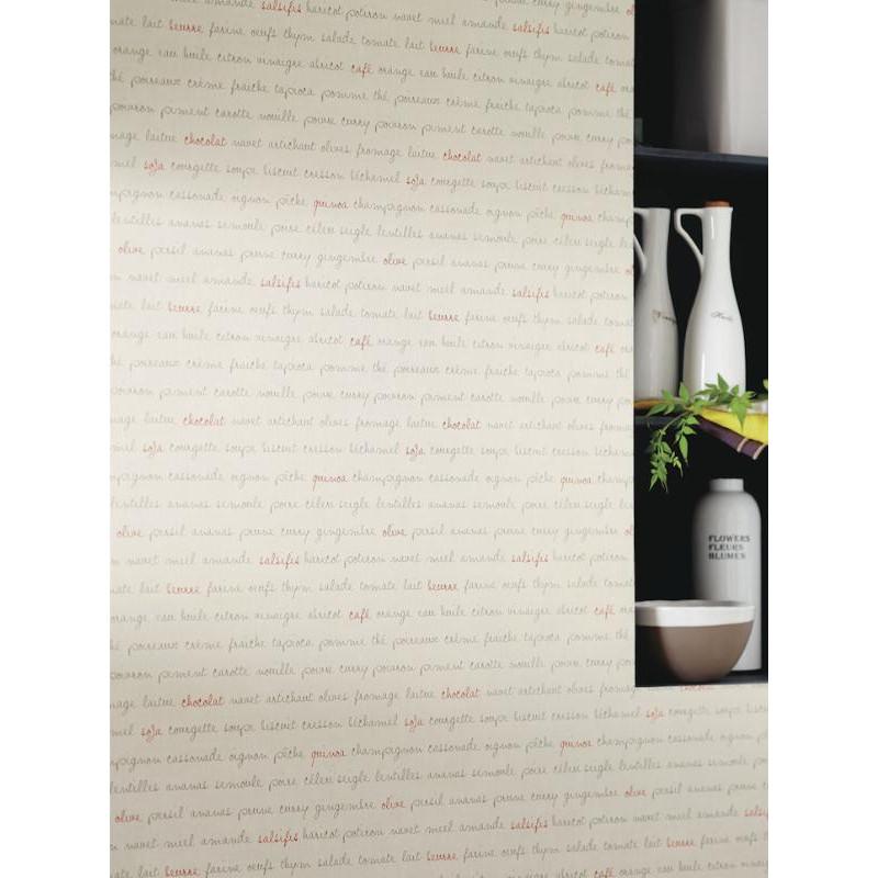 Papier peint Ingrédients taupe rouge - BON APPETIT - Caselio - BAP68368098