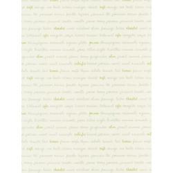 Papier peint Ingrédients blanc vert - BON APPETIT - Caselio - BAP68367000