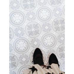 Revêtement PVC - Largeur 4m - EMOTION carreau ciment beige - Beauflor Retro Chic Lisbon 900L