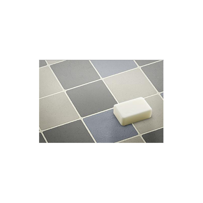 Rev tement lino pvc 3m carrelage bleu gris beauflor for Carrelage bleu gris