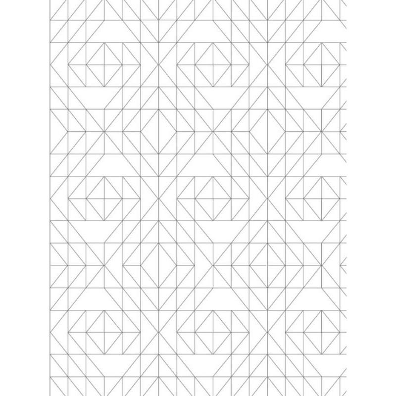 Papier peint géométrique RESIBIS - vinyle sur intissé - Graham & Brown