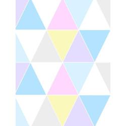 Papier peint motif triangle HARLEQUIN PASTEL - vinyle sur intissé - Graham & Brown
