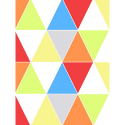 Papier peint motif triangle HARLEQUIN BRIGHT - vinyle sur intissé - Graham & Brown