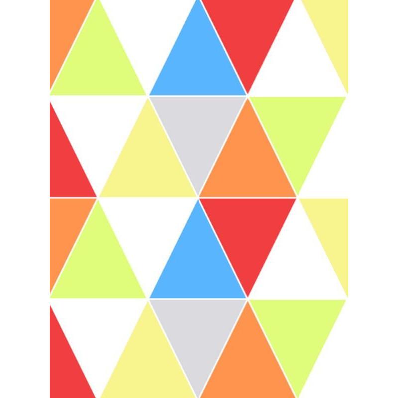Papier peint motif triangle HARLEQUIN BRIGHT - vinyle sur intissé - Graham & Brown