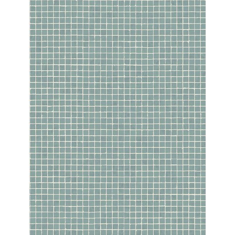 Sol PVC - Sintra 550M mosaïque verte - Emotion Retro BEAUFLOR - rouleau 3M