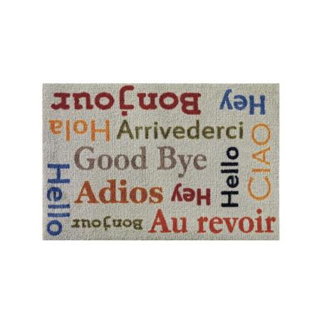 Paillasson Hello / Good bye gris - Floor Mat