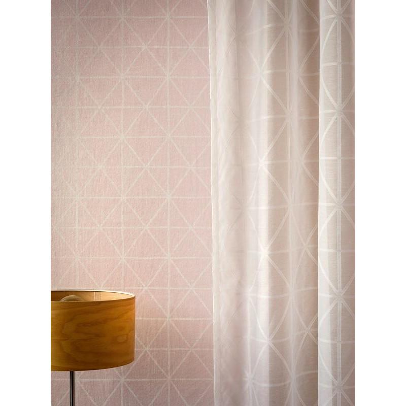 Papier peint graphique motif losange sur fond rose - Papier peint rose pale ...