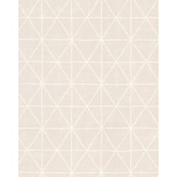 Papier peint intissé graphique motif losange rose poudré/beige - SCANDINAVIAN STYLE - AS CREATION
