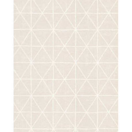 Papier peint Losange rose poudré et beige - SCANDINAVIAN STYLE - AS Creation - 341373