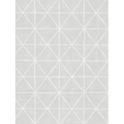 Papier peint intissé graphique motif losange argent - SCANDINAVIAN STYLE - AS CREATION