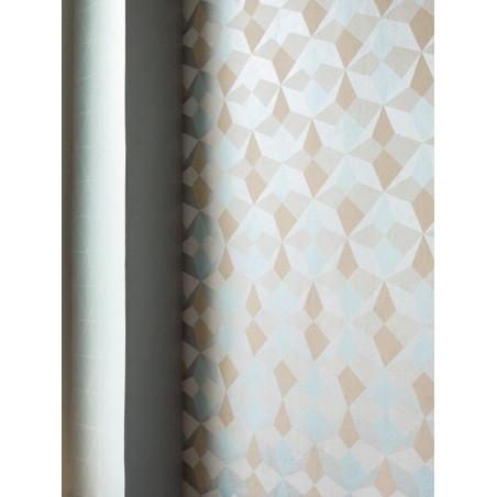 Papier peint intissé origami blanc/bleu/saumon/argent -SCANDINAVIAN STYLE - AS CREATION