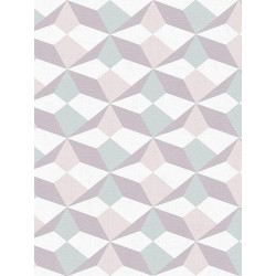 Papier peint intissé origami vert/taupe/mastic/beige - SCANDINAVIAN STYLE - AS CREATION
