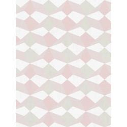 Papier peint intissé origami beige/saumon/rose/kaki - SCANDINAVIAN STYLE - AS CREATION