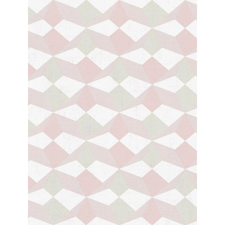 Papier peint Origami vert et rose - SCANDINAVIAN STYLE - AS Creation - 341334