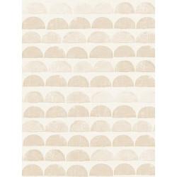 Papier peint intissé graphique demi-lunes beiges - SCANDINAVIAN STYLE - AS CREATION
