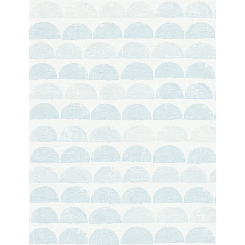 Papier peint Demi-Lunes bleu - SCANDINAVIAN STYLE - AS Creation - 342444