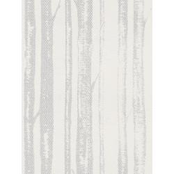 Papier peint intissé natural lace blanc/argent - SCANDINAVIAN STYLE - AS CREATION