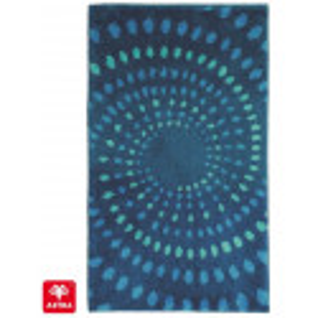 Tapis de bain Mauritius cercle bleu - SCHONER WOHNEN