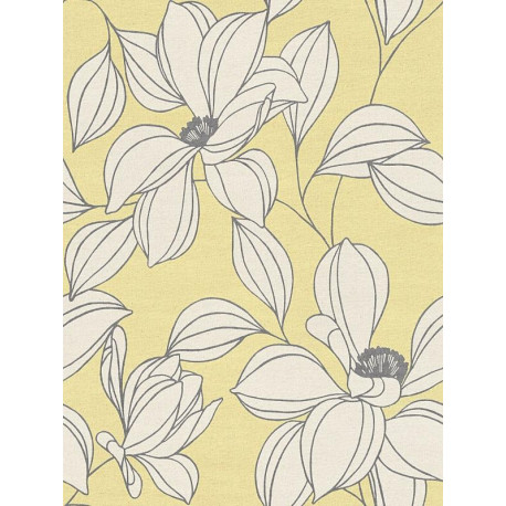 Papier peint Exotic Flower jaune - URBAN FLOWERS - AS Creation - 327951