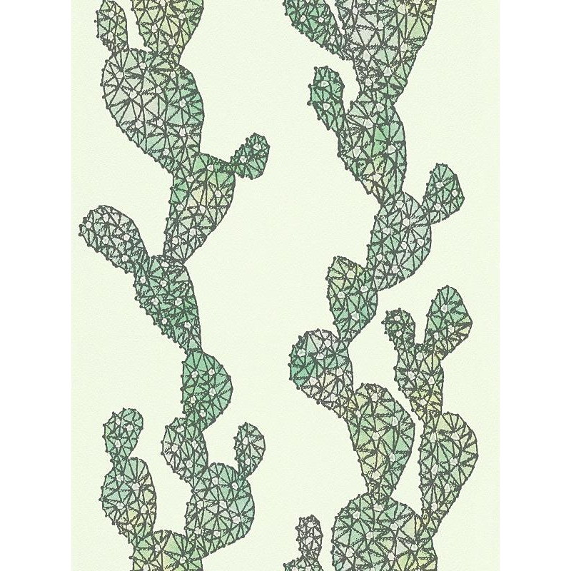 papier peint cactus vert urban flowers de as creation. Black Bedroom Furniture Sets. Home Design Ideas