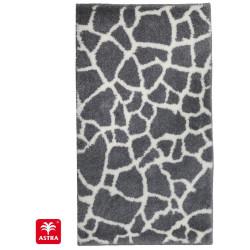 Tapis de bain Mauritius pierre blanc et anthracite - SCHONER WOHNEN
